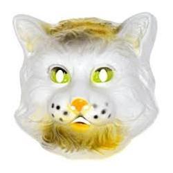 Masque chat en plastique