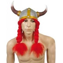 Chapeau viking avec tresses