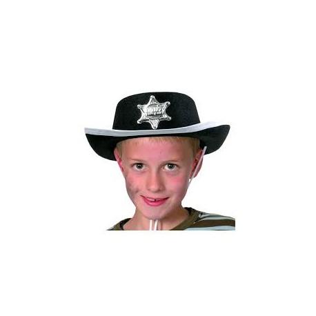Chapeau de shérif noir enfant