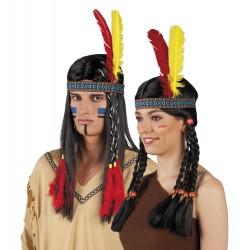 Bandeau d'indien 2 plumes