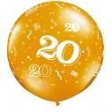 Ballon 20 ans 1 mètre de diamètre