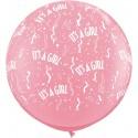 Ballon it's a girl 1 mètre de diamètre