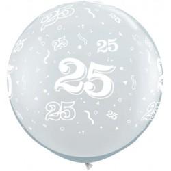 Ballon 25 ans 1 mètre de diamètre