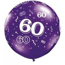 Ballon 60 ans 1 mètre de diamètre