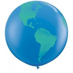 Ballon Monde 1 mètre de diamètre
