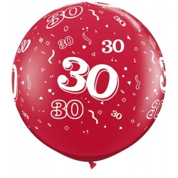 Ballon 30 ans 1 mètre de diamètre
