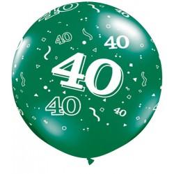 Ballon 40 ans 1 mètre de diamètre