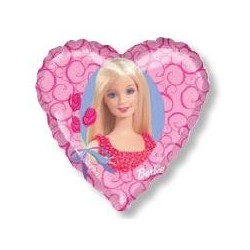 Ballon coeur barbie
