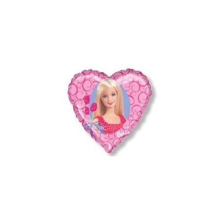 Ballon coeur barbie