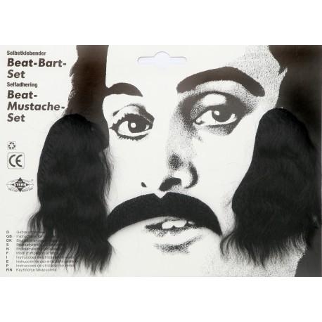 Moustache et favori beat