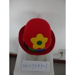 Chapeau boule de clown rouge