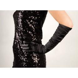 Long gant noir