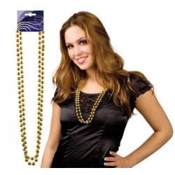 sautoir perles doré