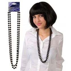 sautoir perles noir