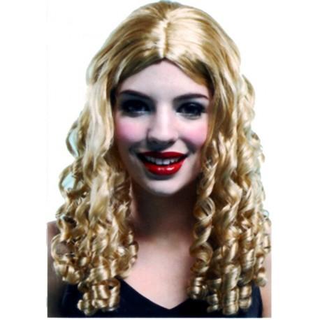 Perruque blonde bouclée