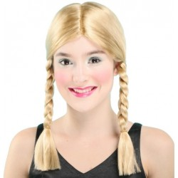 Perruque 2 tresses blondes