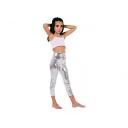 Collants paillette argent