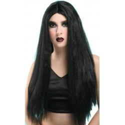 Perruque noir longue sans franche
