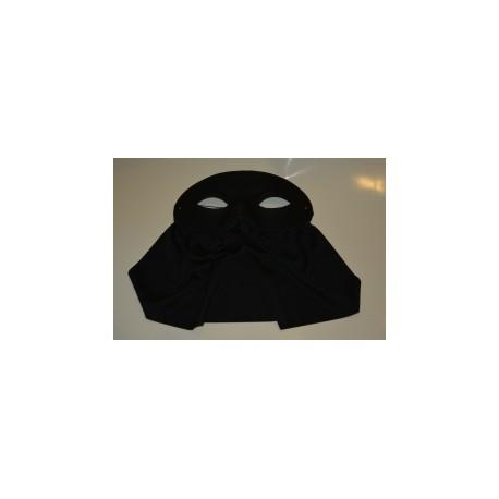 Masque noir avec bavette