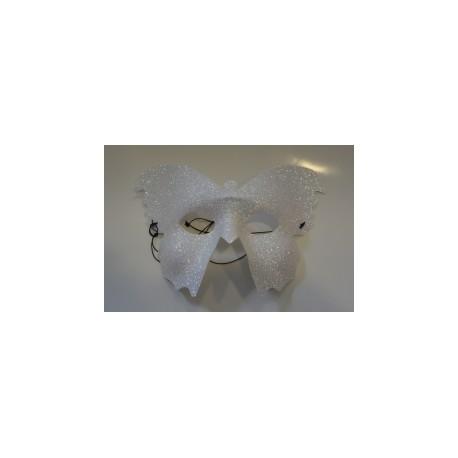 Masque papillon argenté