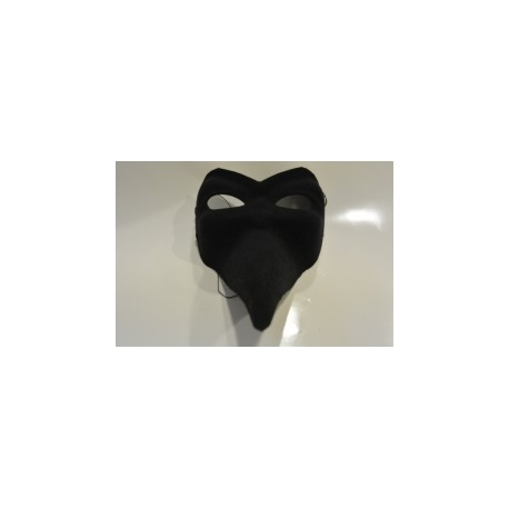 Masque long nez noir luxe
