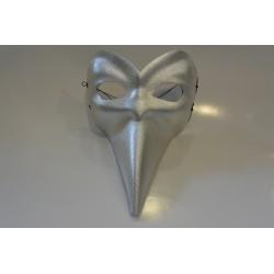 masque Long nez argenté luxe