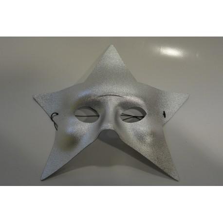 Masque étoile argenté