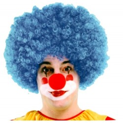 Perruque bleu clown