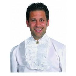 Jabot blanc luxe