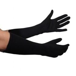 Long gant noir tissu