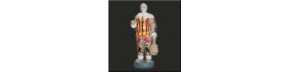 Statue carnaval gille avec masque