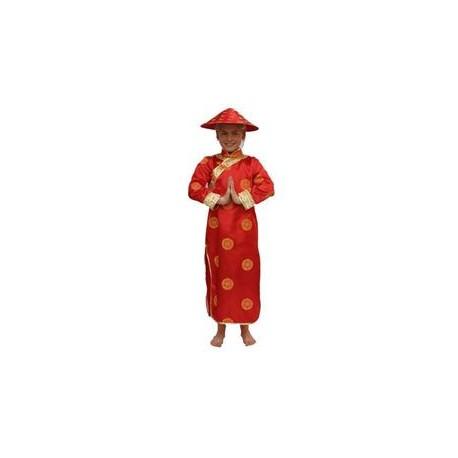 Chinoise rouge enfant