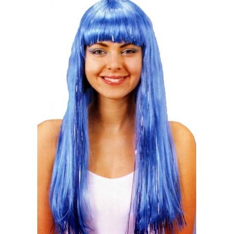 Perruque bleu