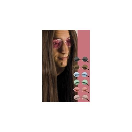 Lunettes hippie rose