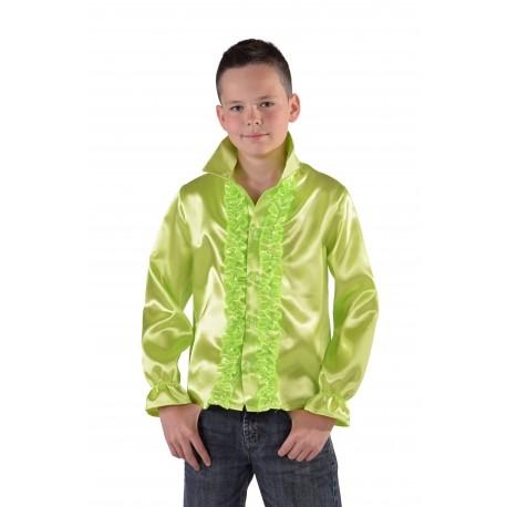 Chemise disco verte enfant