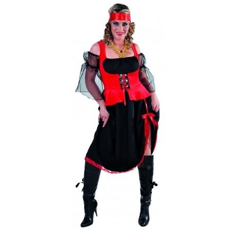 Corsaire dame noir et rouge