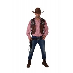 Gilet cow-boy homme