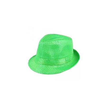 Borsalino pailleté vert
