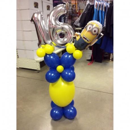 Colonne ballons minion