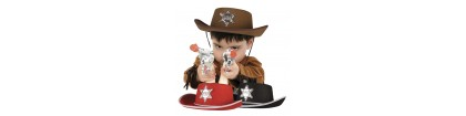 Chapeau de cow boy enfant brun