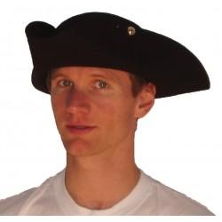 chapeau tricorne vrai feutre noir