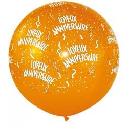 Ballon joyeux anniversaire 1 mètre de diamètre