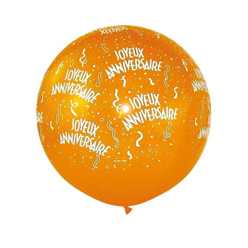 Ballon Joyeux Anniversaire 1 Metre De Diametre Le Cotillon