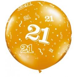 Ballon 21 ans 1 mètre de diamètre