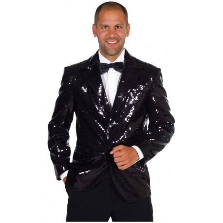 veste paillette noire