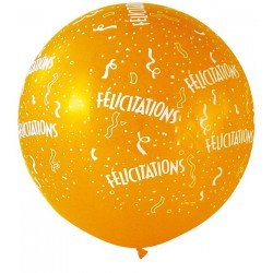 Ballon félicitation 1 mètre de diamètre