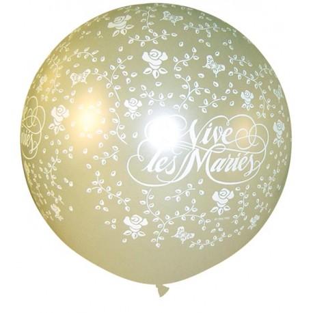 Ballon vive les mariées en 1 mètre de diamètre