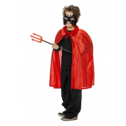 Cape diable rouge enfant