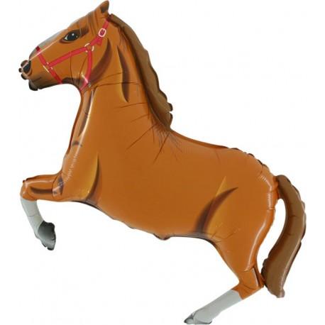 Ballon cheval brun