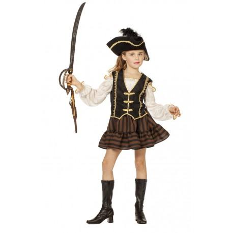 Pirate brun fille